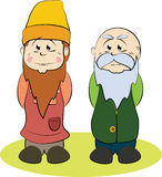 Two gnomes, a younger one and an older one Royalty Free Stock Images