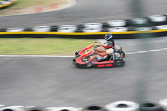 Two go-carting guys Stock Images