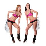 Two go-go girls Royalty Free Stock Photo