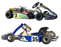 Two Go  Karts Royalty Free Stock Photos