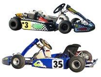 Two Go Karts royalty free stock photos
