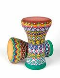 Two goblet drums also chalice drum, tarabuka, darbuka, debuka Stock Photo