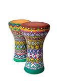 Two goblet drums also chalice drum, tarabuka, darbuka, debuka Royalty Free Stock Image