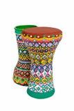 Two goblet drums also chalice drum, tarabuka, darbuka, debuka Stock Images