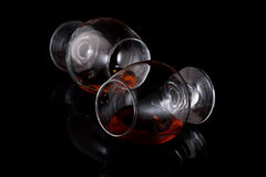 Two goblets of brandy Royalty Free Stock Images