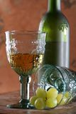 Two Goblets, Grape and Bottle Royalty Free Stock Photos