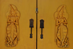 The two god are on sentry the door Royalty Free Stock Photo