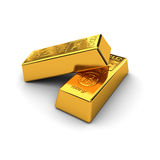 Two gold bars Stock Photography