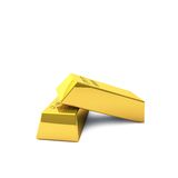Two gold bars. Are a lot of wealth, even if they are small Royalty Free Stock Images