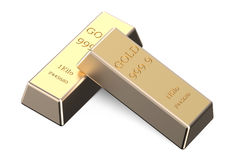 Two gold bars Royalty Free Stock Photography