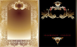 Two Gold And Black  Royal Backgrounds Royalty Free Stock Photo