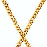 Two Gold Chain Stock Images