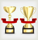 Two gold cup Royalty Free Stock Images