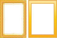 Two gold frame Stock Photos