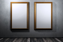 Two gold frame Royalty Free Stock Photo