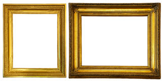 Two gold frames. Royalty Free Stock Image