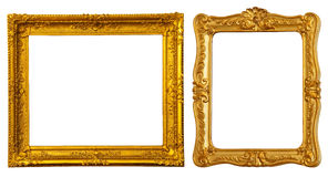 Two gold frames Stock Photography