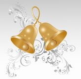 Two gold handbells Royalty Free Stock Photos