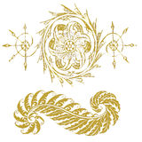 Two gold ornament Royalty Free Stock Photography