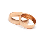 Two gold ring Stock Images