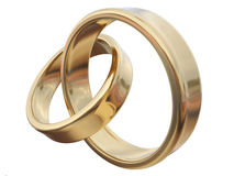 Two gold ring Royalty Free Stock Photography