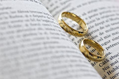 Two gold rings Royalty Free Stock Image