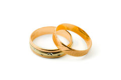 Two gold rings Royalty Free Stock Photo