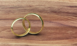 Two gold rings Stock Photo