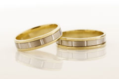 Two gold rings Royalty Free Stock Images