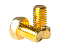 Two gold screw Stock Images