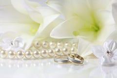 Two Gold Wedding Royalty Free Stock Photo