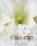 Two gold wedding Stock Photos
