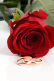 Two gold wedding Stock Photography