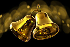 Two golden bells Royalty Free Stock Image