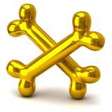 Two golden bones Royalty Free Stock Photo