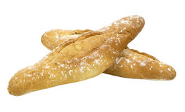 Two golden breads isolated Stock Photography