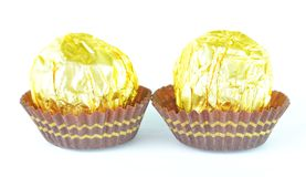 Two Golden Candy Royalty Free Stock Photo