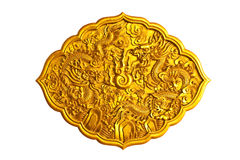 Two golden dragons Stock Images