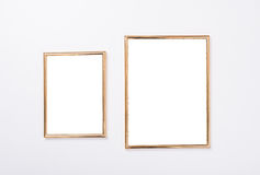Two Golden Frames Mock-up Stock Photos