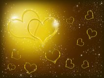 Yellow hearts Stock Photo
