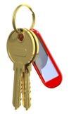 Two golden keys Stock Photo