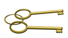 Two golden Keys Royalty Free Stock Image