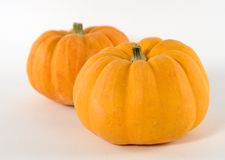 Two Golden Pumpkins Stock Photo