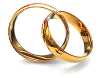 Two golden ring Royalty Free Stock Image