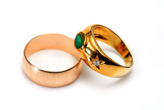 Two golden ring Royalty Free Stock Photo