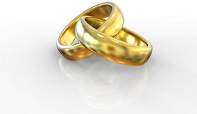 Two golden rings Royalty Free Stock Images