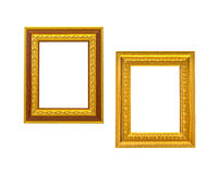 Two golden vintage frame Royalty Free Stock Photography