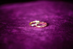Wedding rings close up Royalty Free Stock Photos