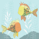 Two Goldfishes Stock Photo