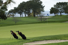 Free Two Golf Bags On The Golf Course Stock Photography - 14594952
